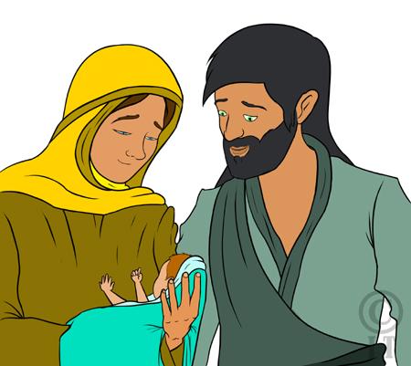 illustration sainte anne et saint joachim