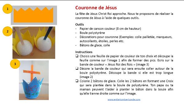 couronne jesus