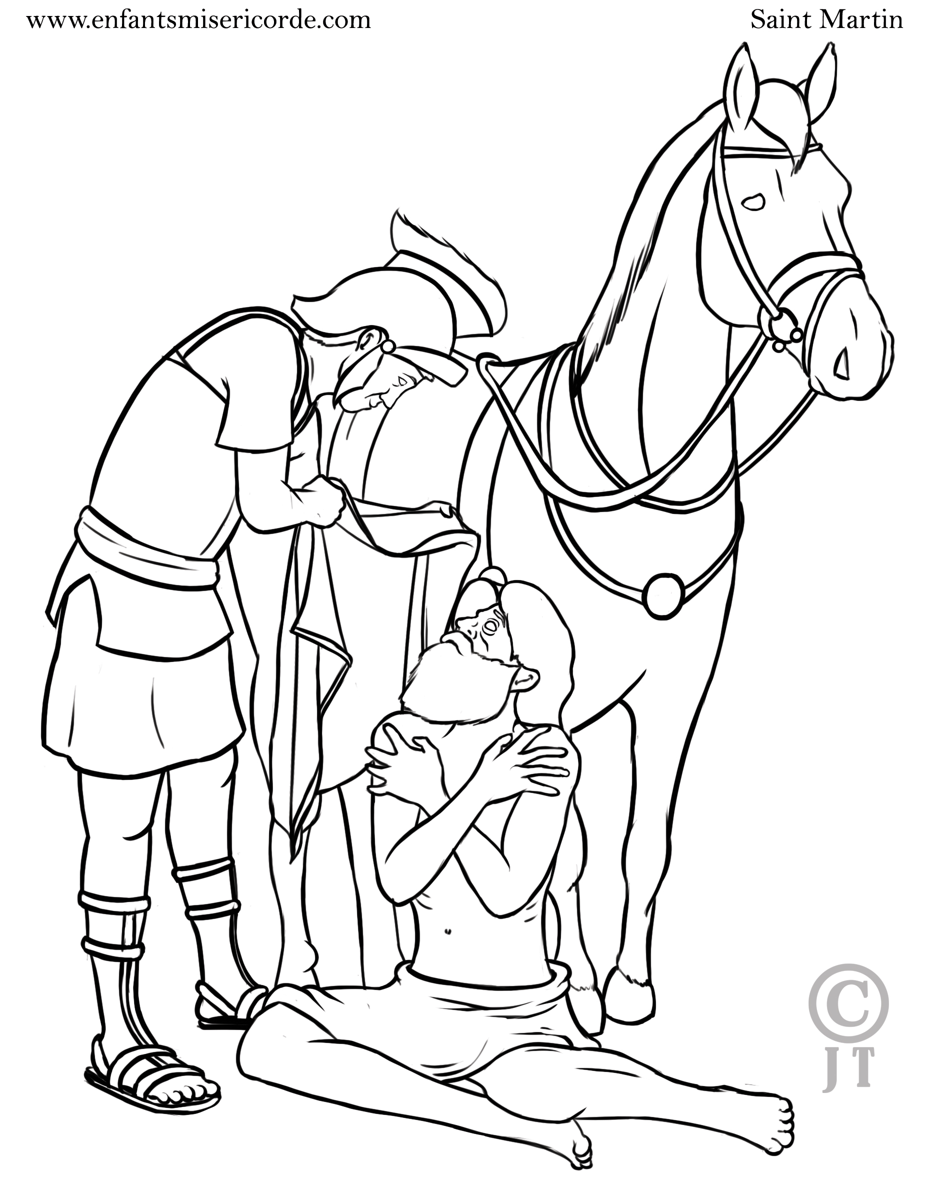 saint martin coloriage