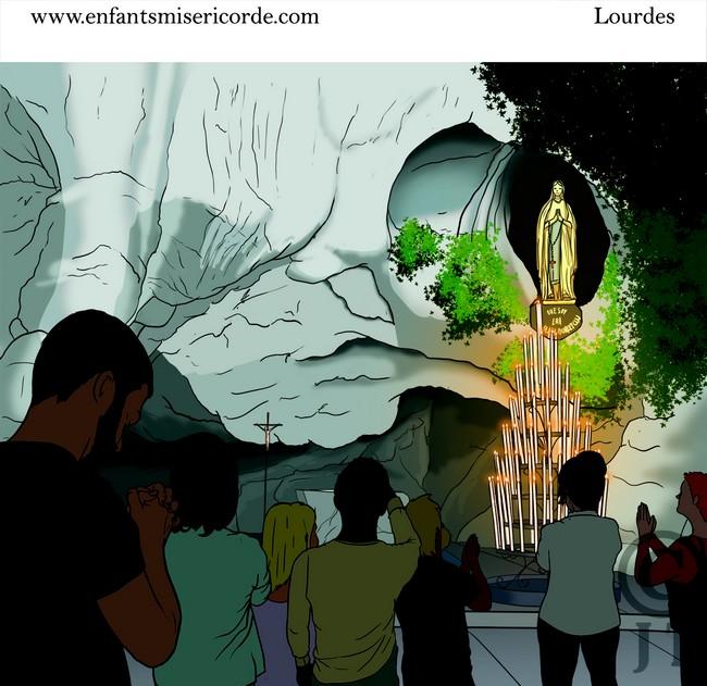dessin Sanctuaire Lourdes