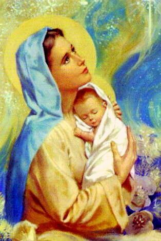 peinture vierge a l'enfant