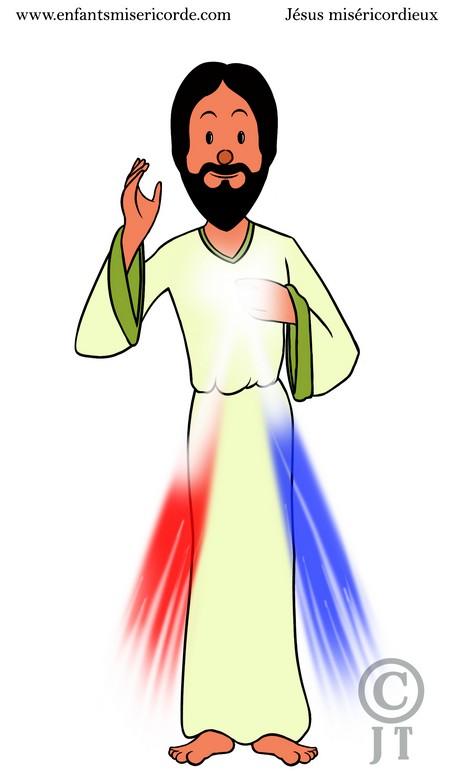 jesus miséricordieux dessin