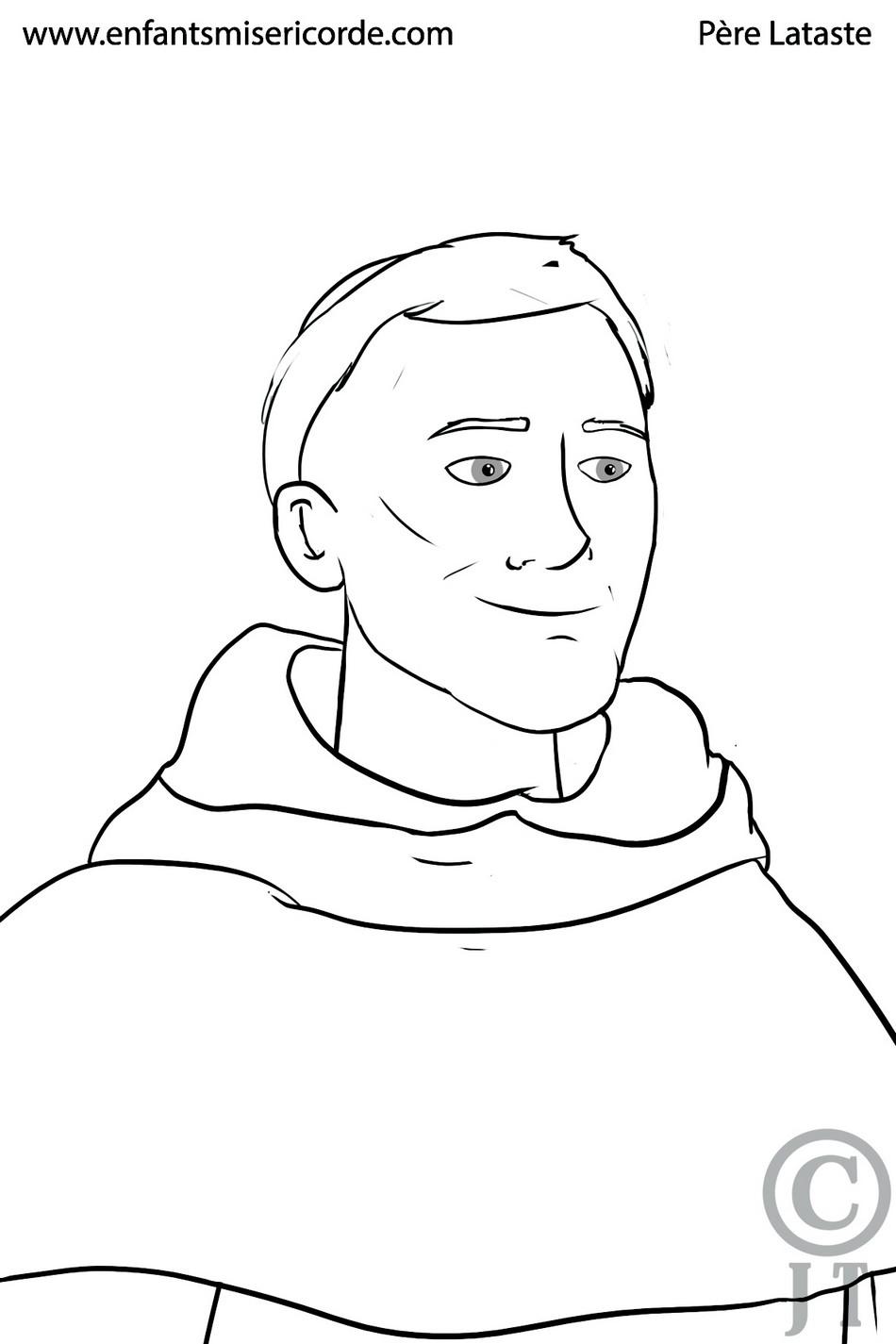 Coloriage Père Lataste