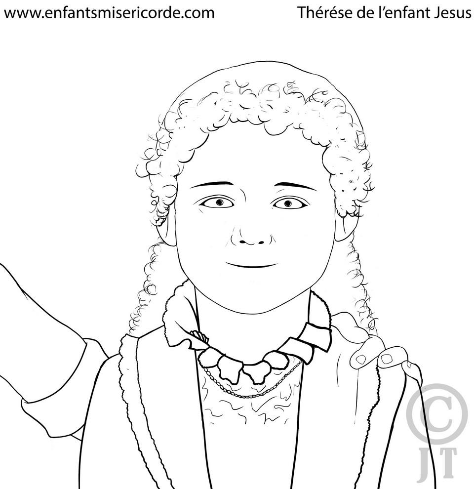 Coloriage Sainte Thérèse de l'Enfant Jésus