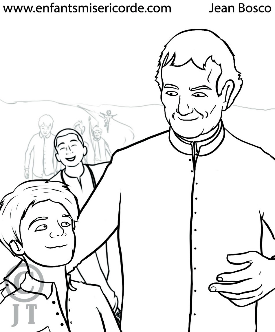 Saint Jean Bosco Coloriage