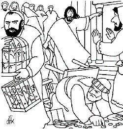 Jesus et les marchands du temple