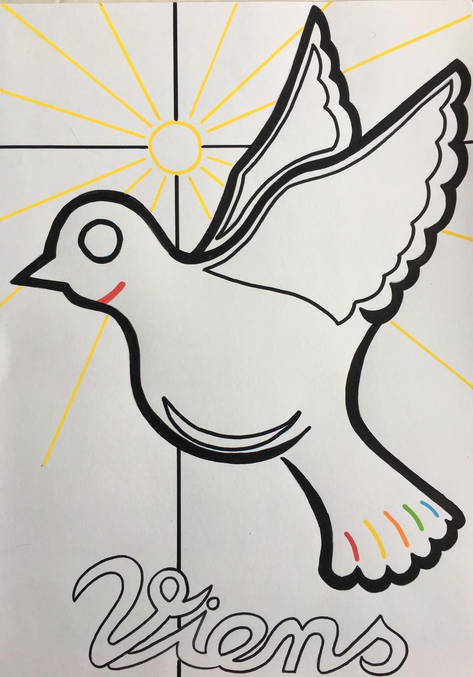 Coloriage Esprit Saint | ENFANTS MISERICORDE 7-11 ANS
