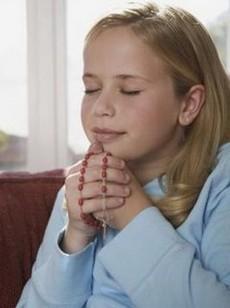 Prière à l'eglise