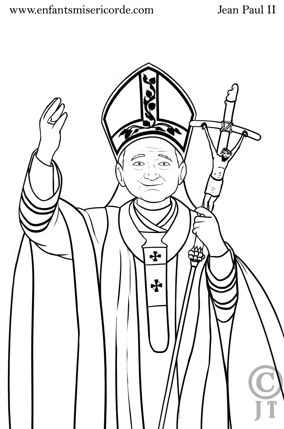 Coloriage Saint Jean-Paul II