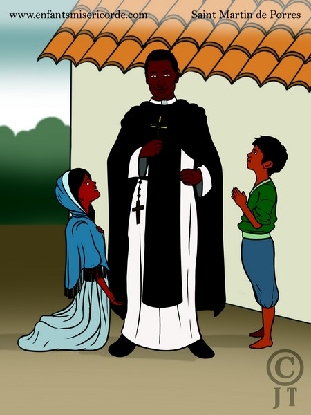 illustration saint martin de porres