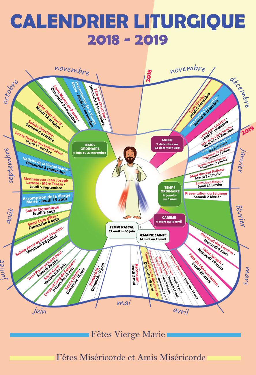 calendrier liturgique 2018-2019