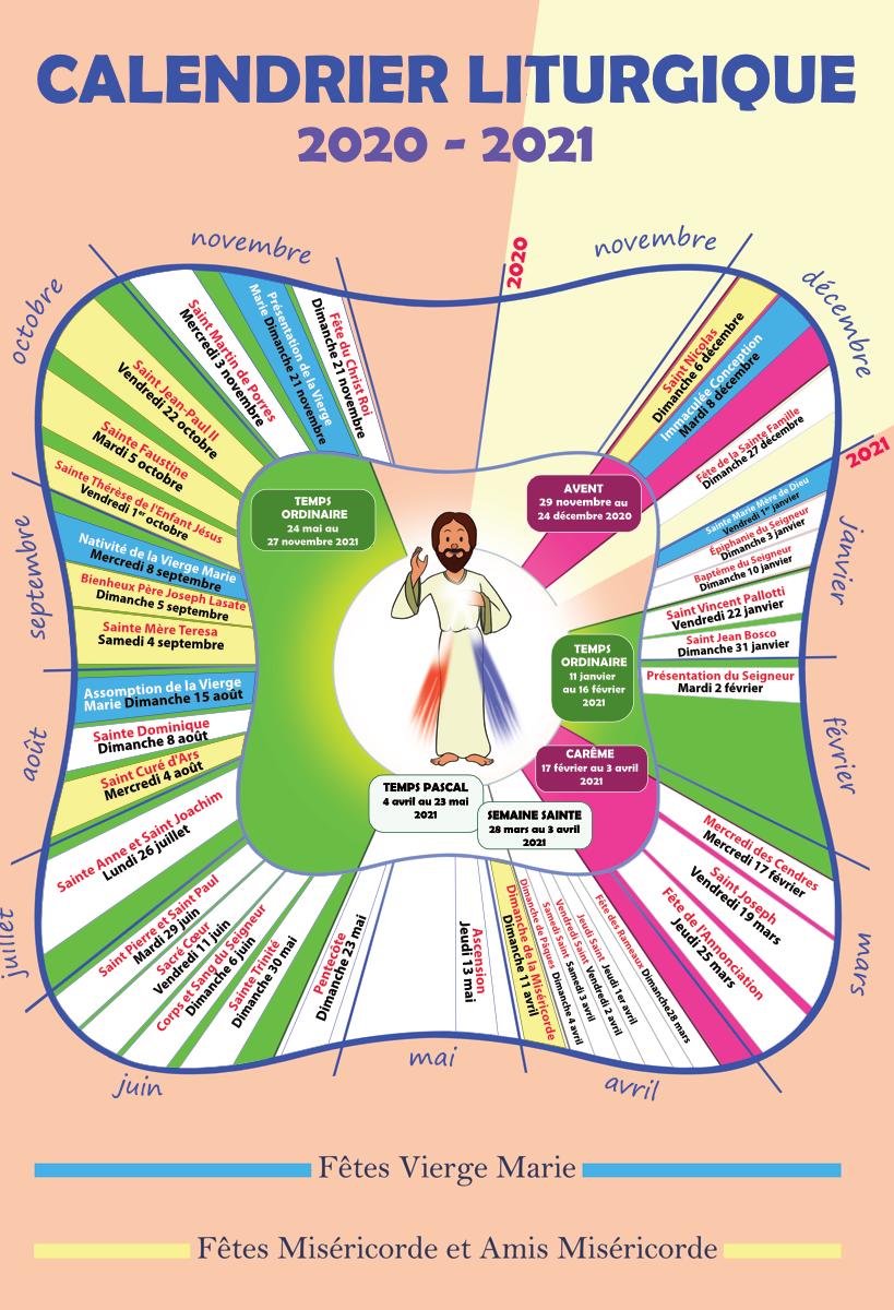 calendrier liturgique 2020-2021